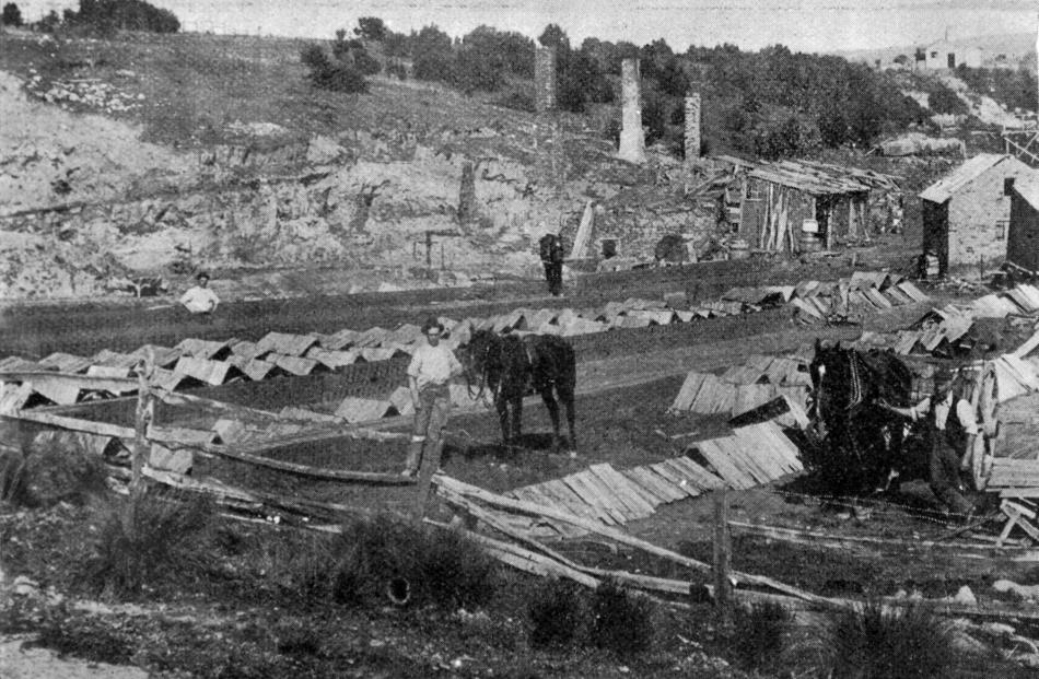 Saddle Hill resources: Jubilee coal mine and brick fields in foreground, Mr Howarth in charge....