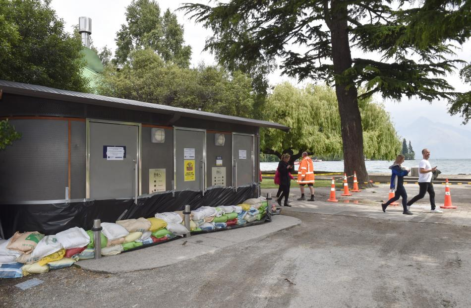 The council temporarily closed public toilets on Queenstown's lake front.
