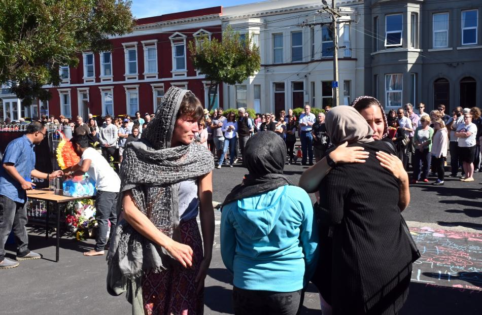 Emotional scenes as members of the public show their support at the reopening of the Dunedin...