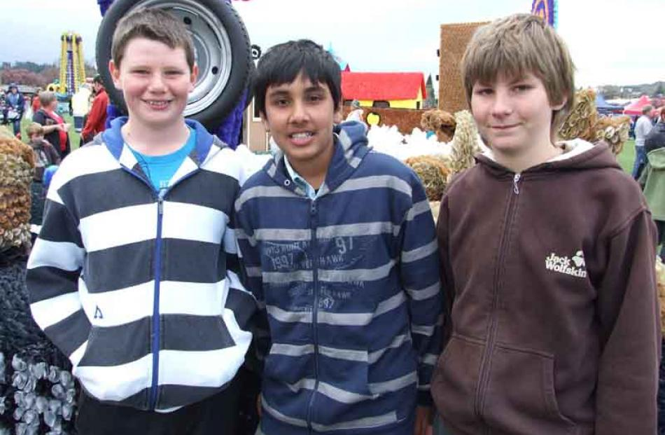 Ben Hurley (13), Ravineel Sharma (13), and Hajdyn Krsinic (12), all of Alexandra.