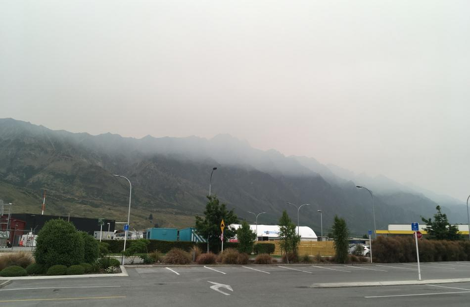 Smoke could be smelt and tasted in Queenstown, which could be problematic for asthmatics. Photo:...