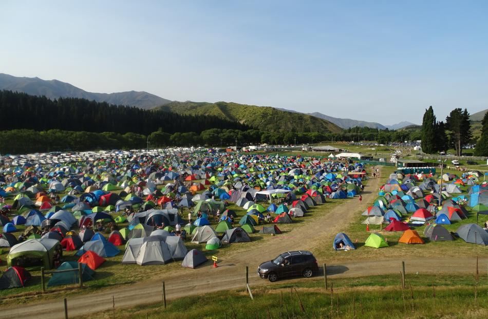 Five and a-half thousand festival-goers stayed overnight in tents at the Rhythm and Alps three...