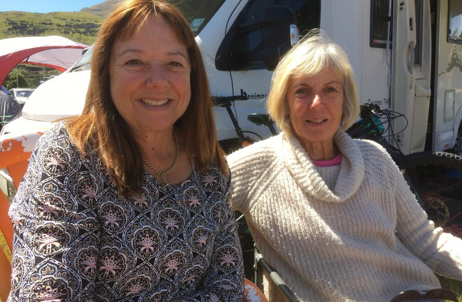 Wendy Boyd and Trish Fraser, both of Glenorchy.