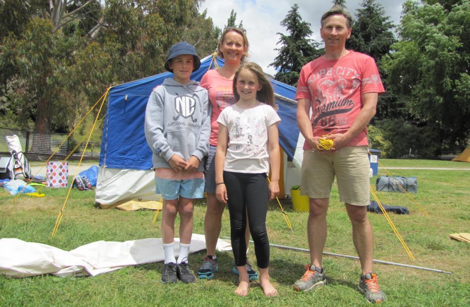 Oliver (13), Karyn, Katie (11) and Simon Battrick, of Queenstown