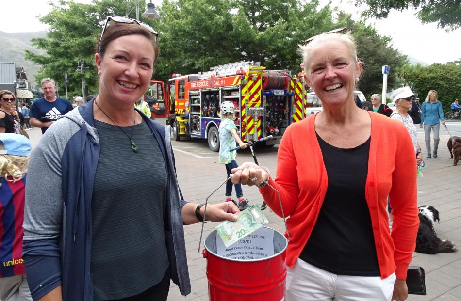 Andrea Boswell, of Christchurch, and volunteer collector Jo Patching, of Sydney.