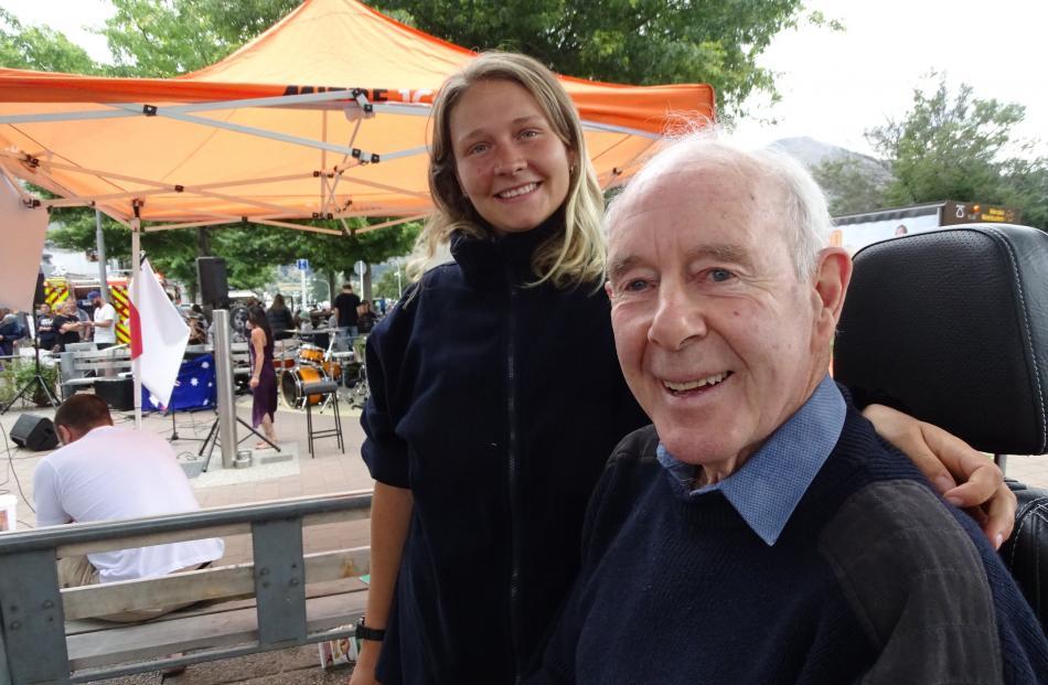 Annika Kallman, of Sweden, and Jeff Griffith, of Wanaka.