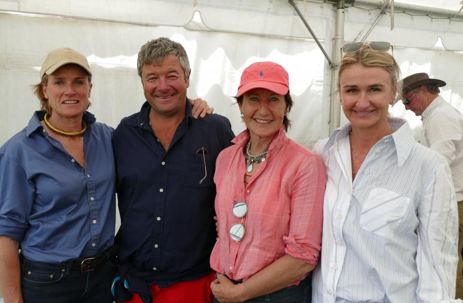 Bizz Macfarlane and Mark Burdon, both of Queenstown, Ginna Wilding, of Conway Flat, and Annabel...