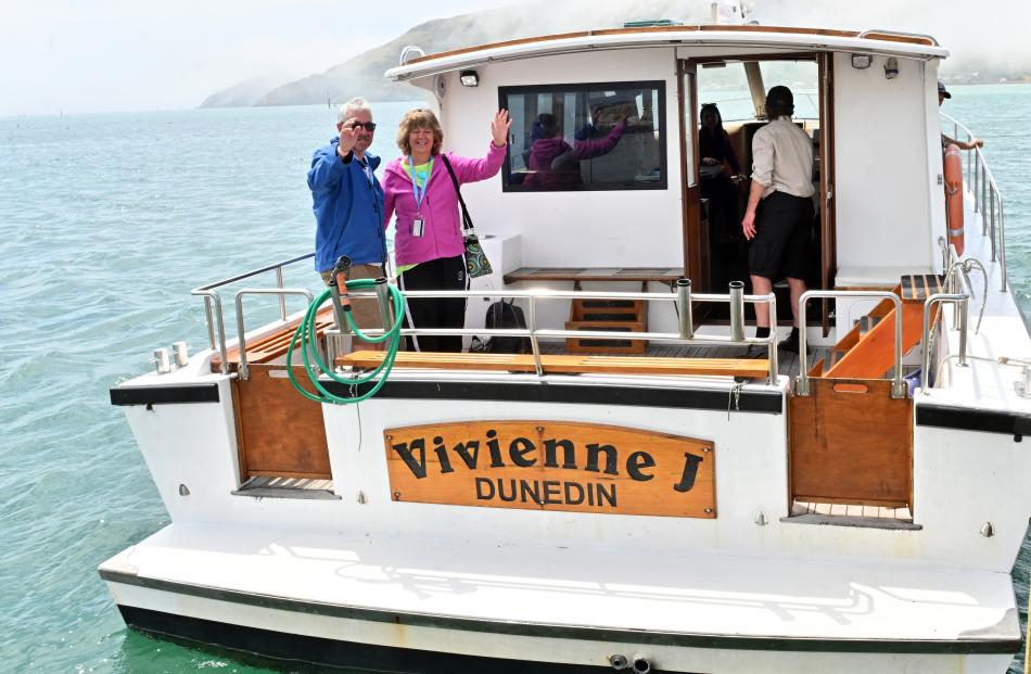 Departing on a Monarch Wildlife Cruise from Wellers Rock, Dunedin, on the ship Vivienne J are...