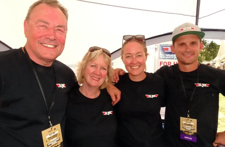 Chris and Linda Rand, of the United Kingdom, Hayley Rand, of Queenstown, and Blair Simpson, of...