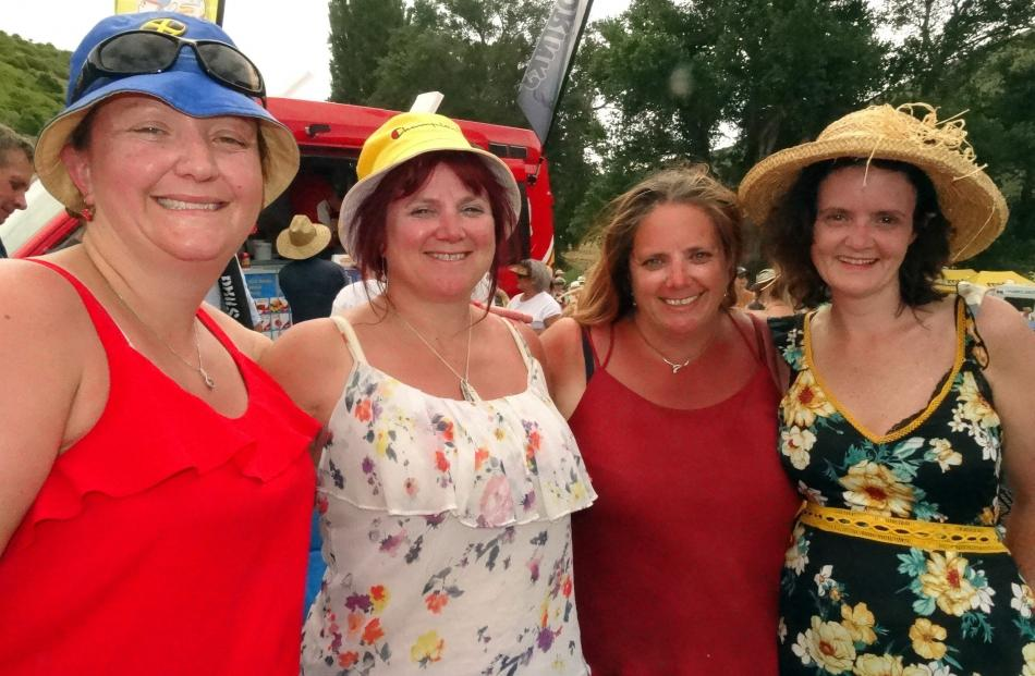 Annette Ferguson, Donna Weir, Lynda Weir and Sarah Clark, all of Dunedin.