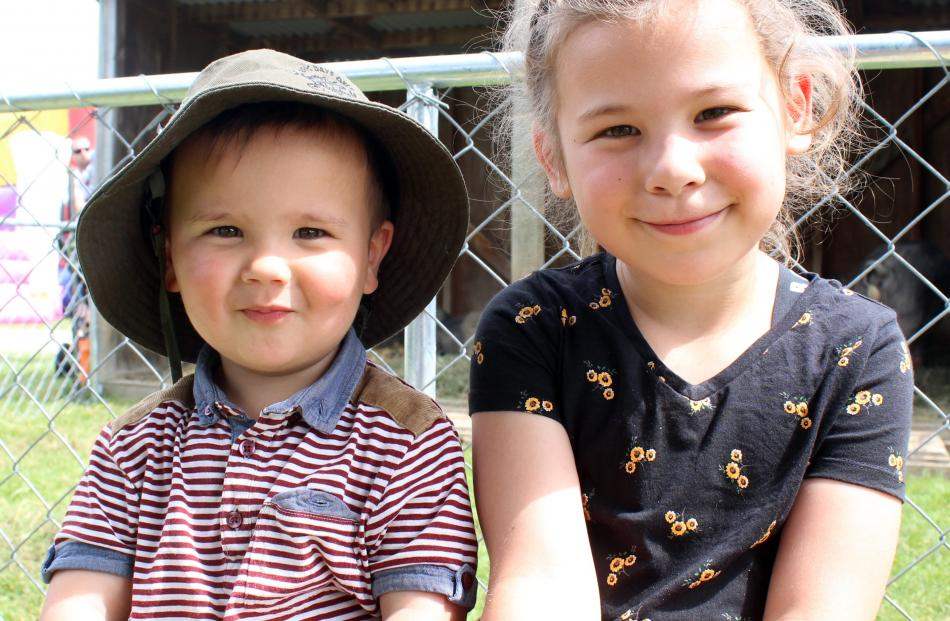 Hugo (2) and Emily (6) Howley, of Invercargill.