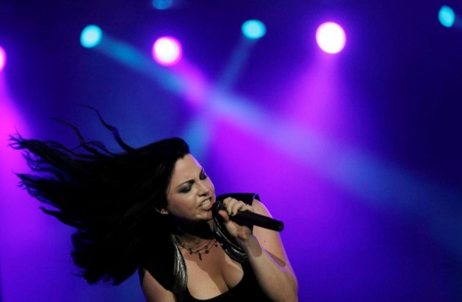 Amy Lee of Evanescence performs at the Rock in Rio Music Festival in Rio de Janeiro, Brazil....