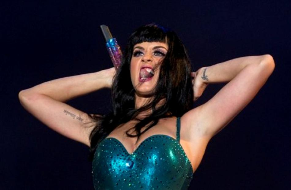 Katy Perry performs at the Rock in Rio music festival.  (AP Photo/Felipe Dana)