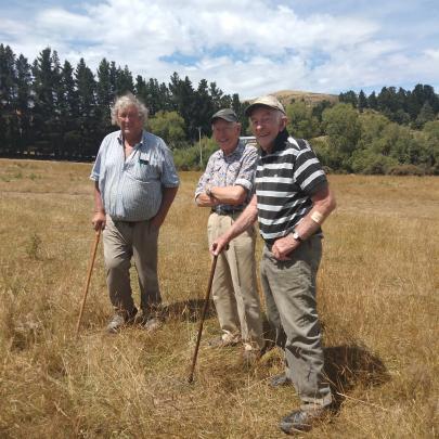 Mike Dowling, Bill Dowling and John Hore keep an eye on proceedings. Photo: Fiona Dowling