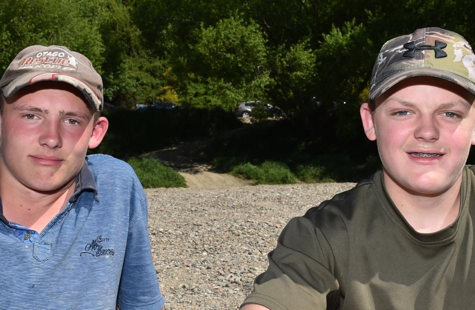 Kaleb Gale  (15), of Mosgiel, and Aaron Todd (15), of Outram.