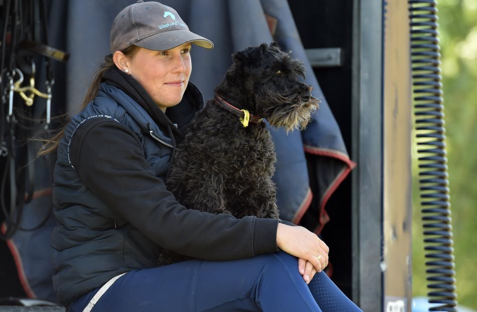 Charlotte Waddell, of Ashburton, with dog Max.