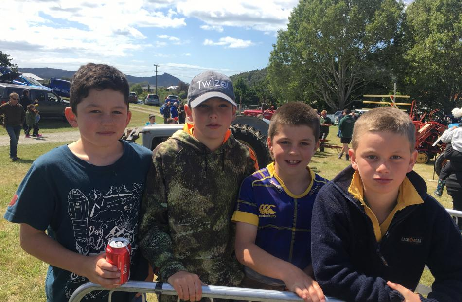 Bede O'Connell (11), of Macraes Moonlight, Flynn McKenzie (11), of Stoneburn, Ollie O'Connell (9)...