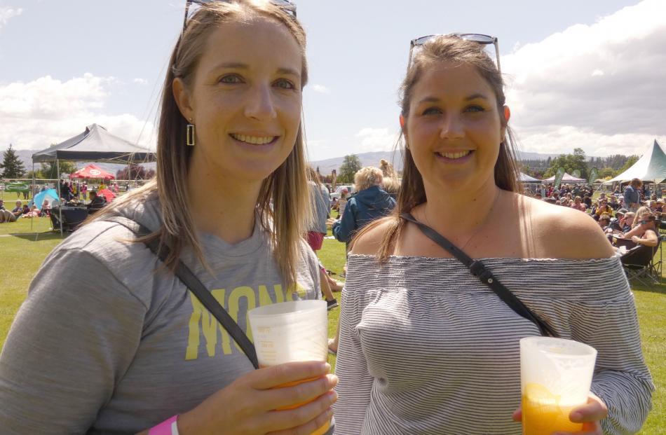 Sharyn Mitchell, of Queenstown, and Rebeka Skerrett, of Alexandra.