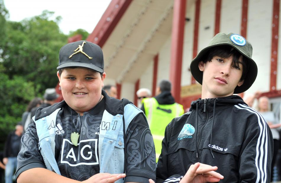 Timo Potiki (12) and Te Atara Cassidy (13), both of Dunedin.