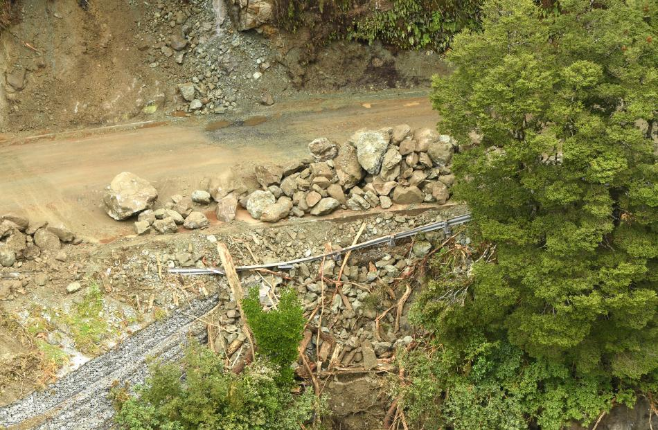 Slips  bowled through roading infrastructure along State Highway 94 last week, leaving a trail of...