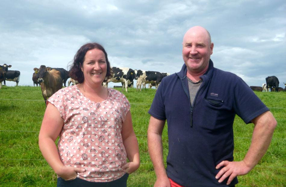 Clifton dairy farmers Sandra and Chris Campbell