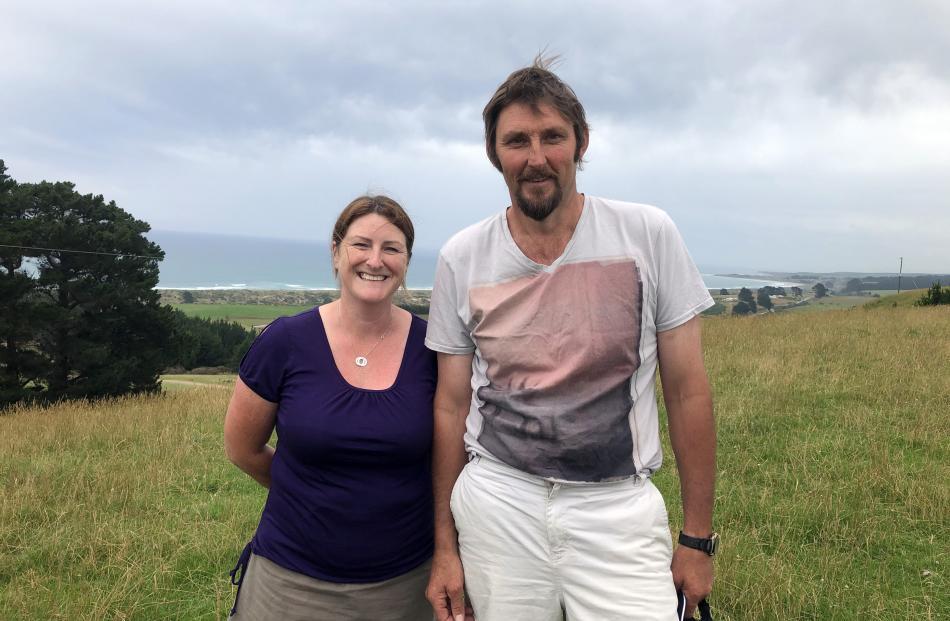 Toko Mouth sheep and beef farmers Joanna and Simon Davies