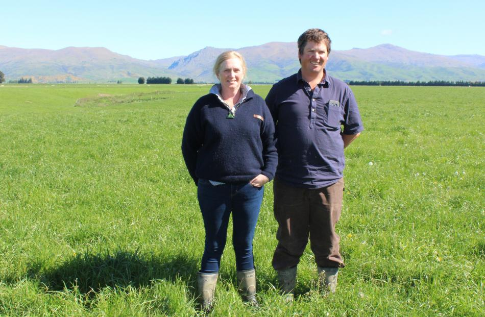 Omakau dairy heifer grazers and beef finishers Anna and Ben Gillespie