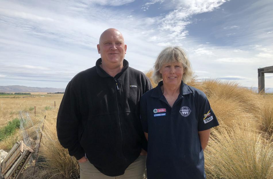 Gimmerburn sheep and cattle farmers Grant Williams and Angela Scott