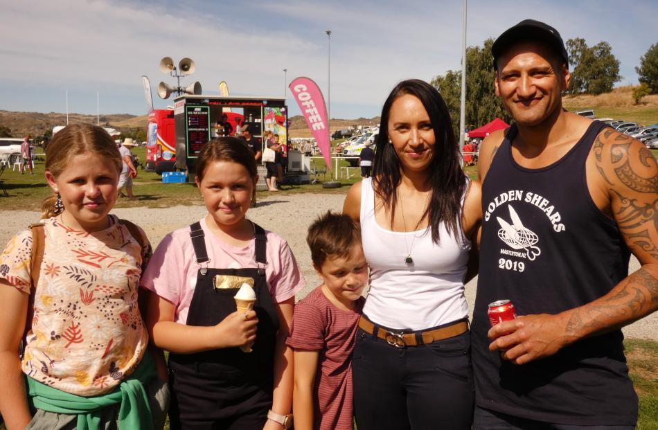 Bella Breen (9), Jada O'Neill (10), Isaiah O'Neill (7), Atiria Te Huia and Stacey Te Huia, all of...