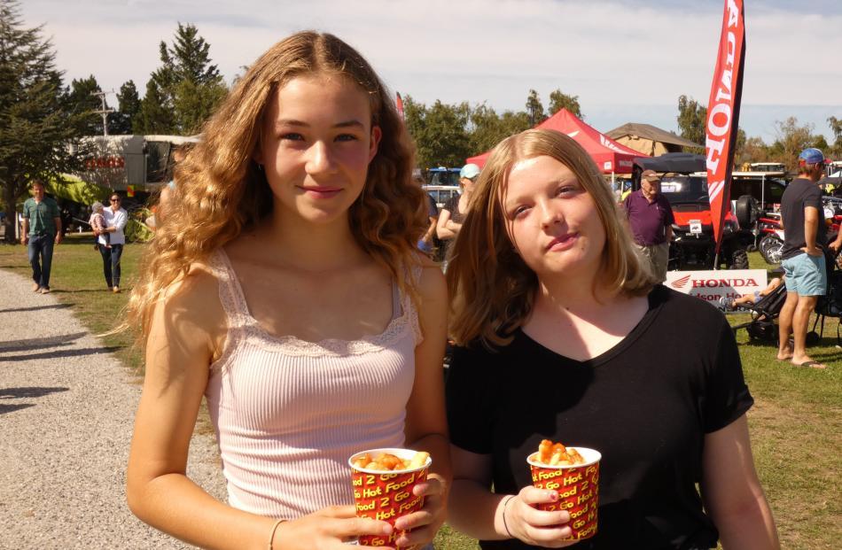 Olivia Dyson (13) and Lydia Sanders (13), both of Alexandra.