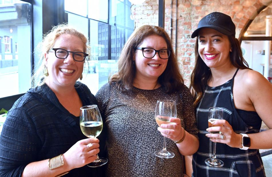 Allison Horsley, Emily Duncan and Kelly Hocking, all of Dunedin.