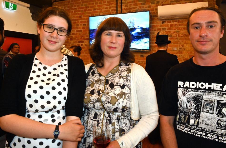 April McMillan, her mother Eliza McMillan and Adam Johnson, all of Dunedin.