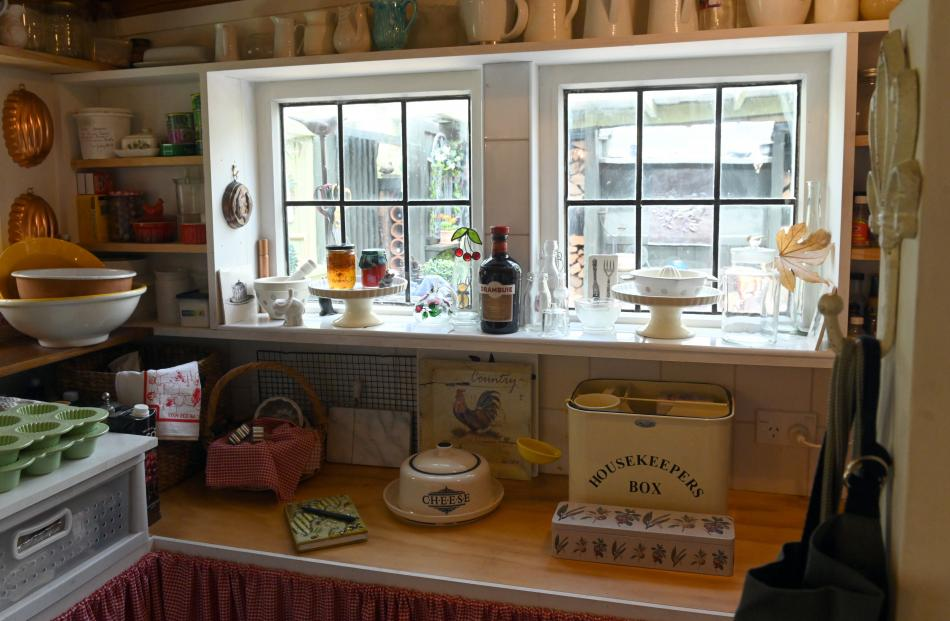 Homemade cakes and pies are sometimes left to cool on the deep windowsill in the butler's pantry.
