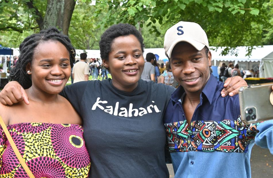 Members of the African Students' Association (from left) Karyn Mwandamila, Nomvelo Shiba and...