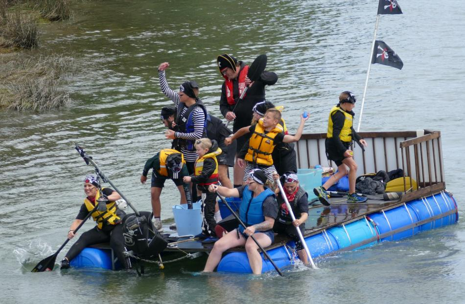 Winning Clydevale team the Whisky Chasers give as good as they get during Saturday's Big River...