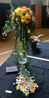 North Otagotook top honours in the floral art section with Sunset on a Westland Waterfall,...