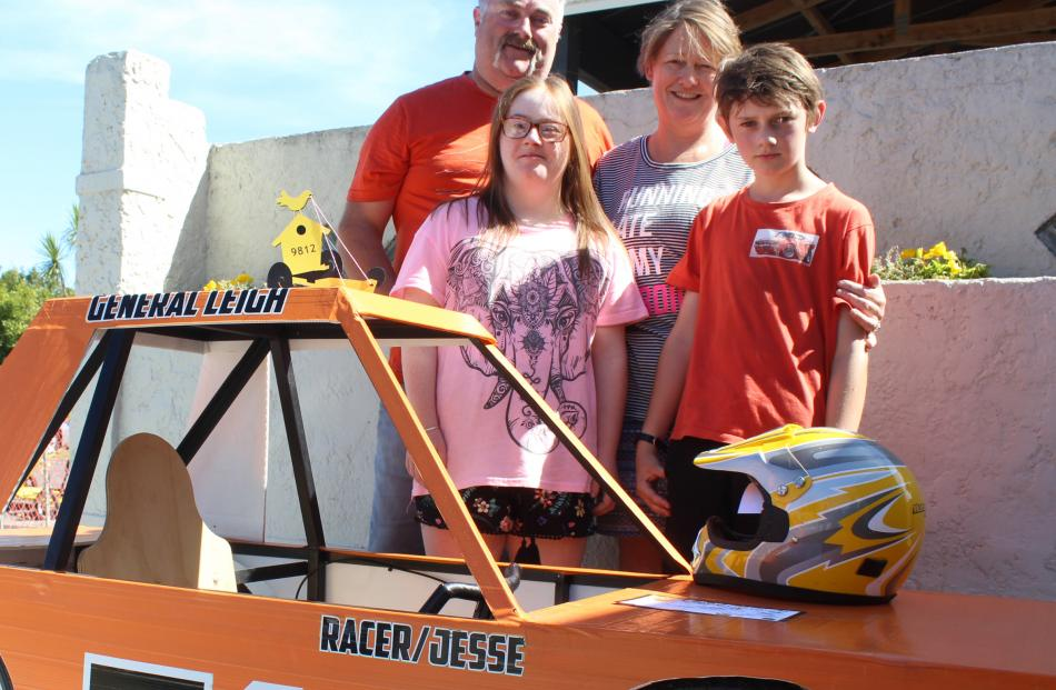Trolley racing is in the Leigh family blood — both mum and son did well in their categories....