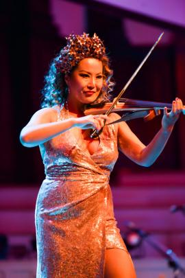Electric violinist Yoomia Sim kicked up a storm with a high energy Queen medley.