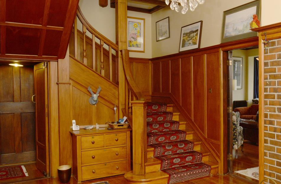 The main stairs were apparently not as steep as some so women could walk down in their long...