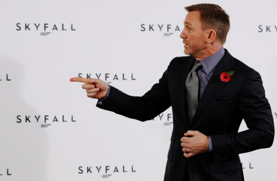Daniel Craig poses while launching the start of production of the new James Bond film 'SkyFall'...