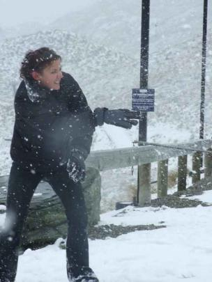 Melissa Parker, who arrived from Auckland yesterday morning, just in time for the snow, launches...
