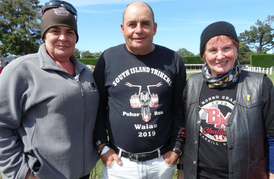Sue McNamee and Eddie Pentland, both of Christchurch, and Monique Huntley, of Bluff.