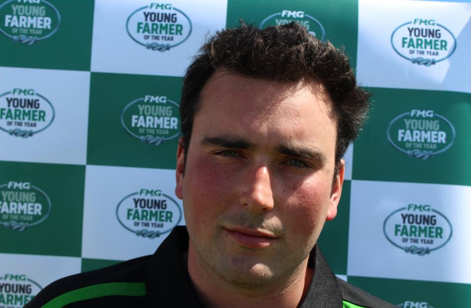 Finalist Scott Abrahamson (27) manages a 1063-cow dairy farm at Dunsandel.