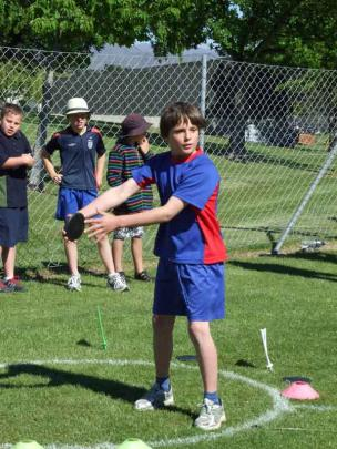 Nick Thompson (9) of Arrowtown Primary.