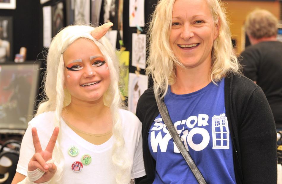 Amber (12) and Marie Munro, of Dunedin.