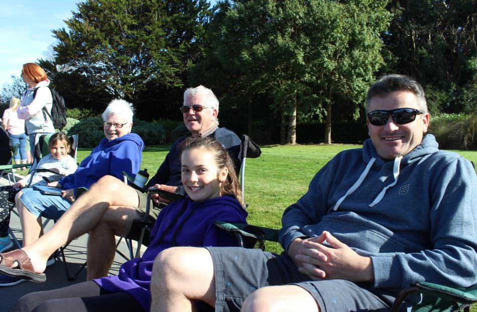 Annabelle (7), Mary, Tony, Stephanie (11) and Kirk Rae, all of Invercargill.