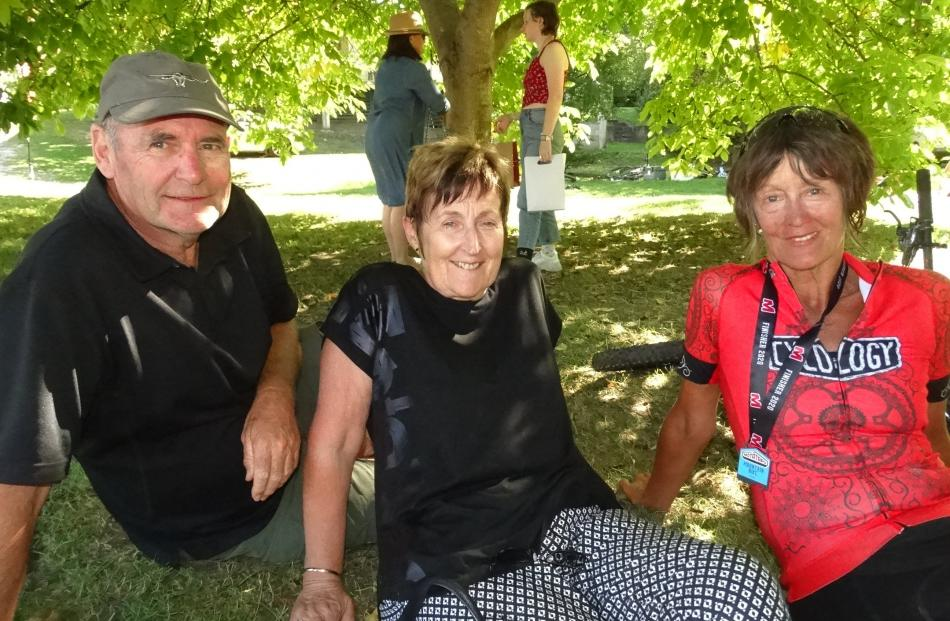 Trevor and Maureen Horan, of Cambridge, and Heather Allison, of Whangaparaoa Peninsula.