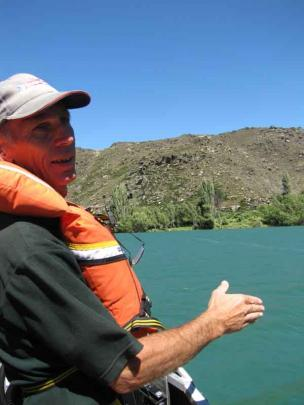 Mr Wills discusses the trail as we cruise down the river.