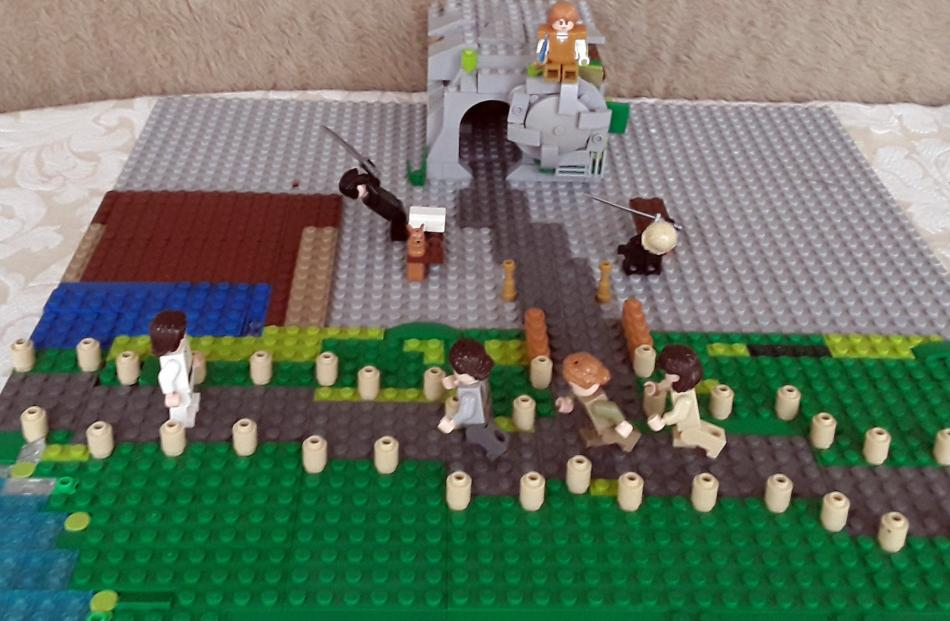 Eliana Bethel (10) built this Lego depiction of the Resurrection of Christ at home in...