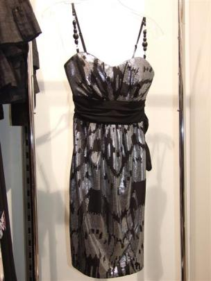 Foil Jersey Bead Strap dress at Pagani.